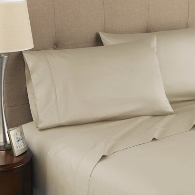 Harwood Organic 300 Thread Count Cotton Sheet Set Size: Queen, Color: Taupe