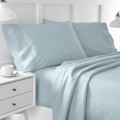300 Thread Count Solid Pillowcase Size: Standard, Color: Soft Aqua