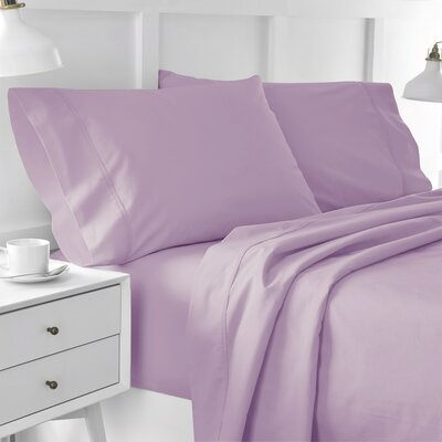 300 Thread Count Solid Pillowcase Size: Standard, Color: Lilac
