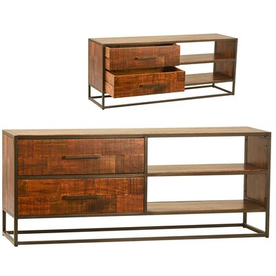 Helmer 59 TV Stand with 2 Drawer