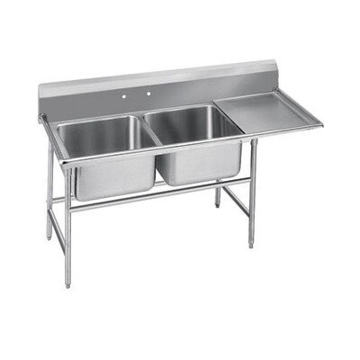 940 Series Double Seamless Bowl Scullery Sink