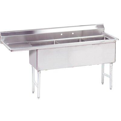 Triple Fabricated Bowl Scullery Sink Width: 74.5