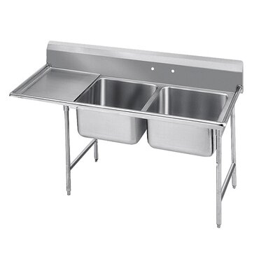 940 Series Double Seamless Bowl Scullery Sink Width: 62