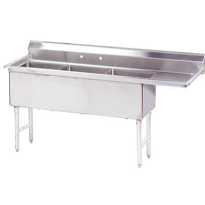 Triple Fabricated Bowl Scullery Sink Width: 80.5