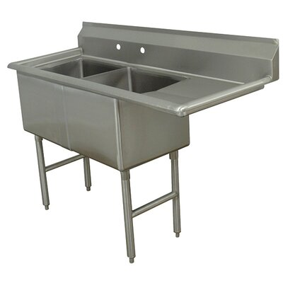 Double Fabricated Bowl Scullery Sink Width: 62.5