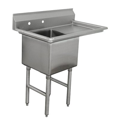 Single Fabricated Bowl Scullery Sink Width: 38.5