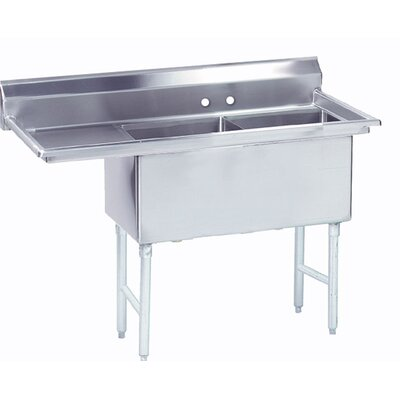 Double Fabricated Bowl Scullery Sink Width: 68.5