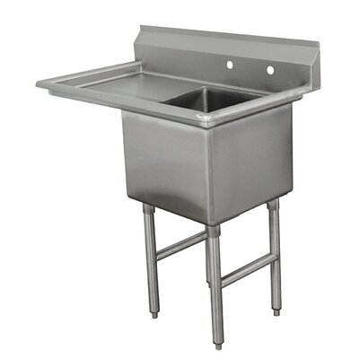 Single Fabricated Bowl Scullery Sink Width: 45
