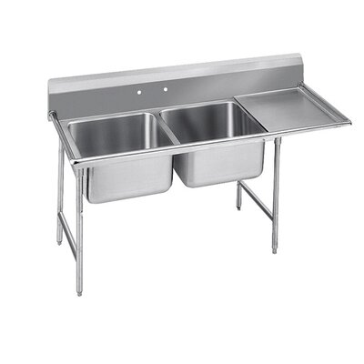 900 Series Double Seamless Bowl Scullery Sink Width: 84