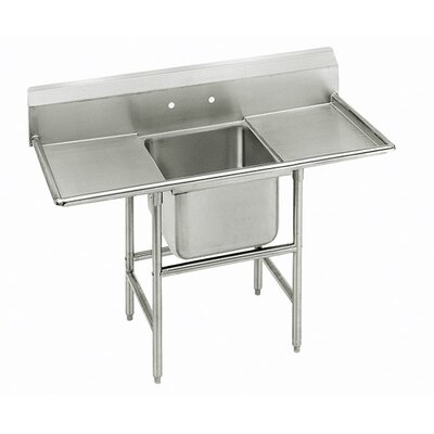 900 Series Single Seamless Bowl Scullery Sink Width: 90