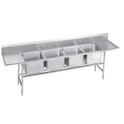 940 Series Seamless Bowl 4 Compartment Scullery Sink Width: 146