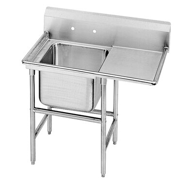 940 Series Single Seamless Bowl Scullery Sink Width: 54