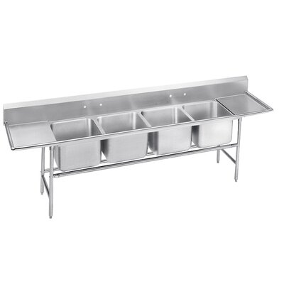 900 Series Seamless Bowl 4 Compartment Scullery Sink Width: 110