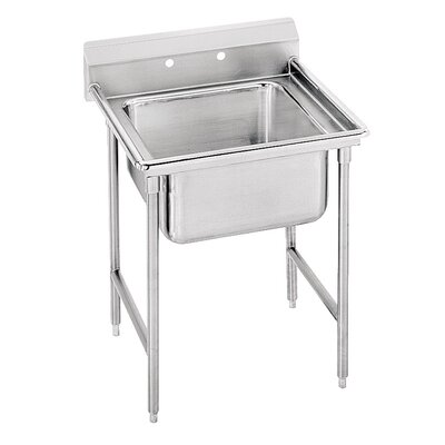 940 Series Single Seamless Bowl Scullery Sink Width: 27