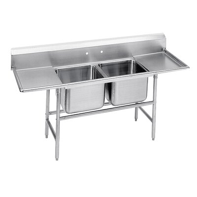 940 Series Double Seamless Bowl Scullery Sink Width: 77