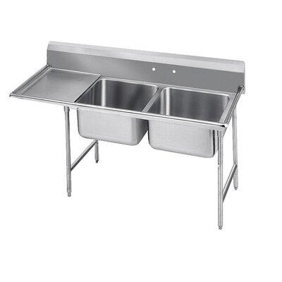 900 Series Double Scullery Sink Width: 84