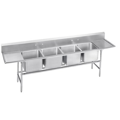 900 Series Seamless Bowl 4 Compartment Scullery Sink Width: 154
