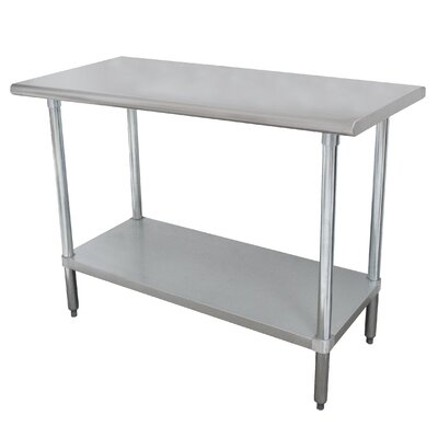 Wide Space-Saver Prep Table Size: 35.5 H x 48 W x 18 D