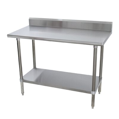 Heavy Duty Prep Table Size: 40.5 H x 96 W x 30 D