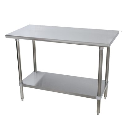Heavy Duty Prep Table Size: 35.5 H x 84 W x 24 D