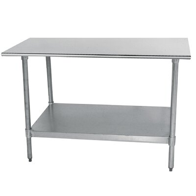 Economy Prep Table Finish: Galvanized, Size: 35.5 H x 30 W x 30 D
