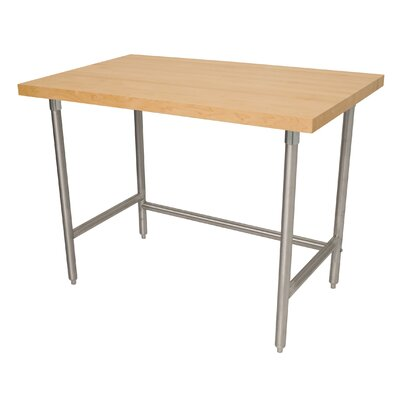 Prep Table with Wood Top Size: 35.5 H x 72 D x 30 W