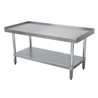 Economy Equipment Prep Table Size: 25 H x 60.25 W x 24 D