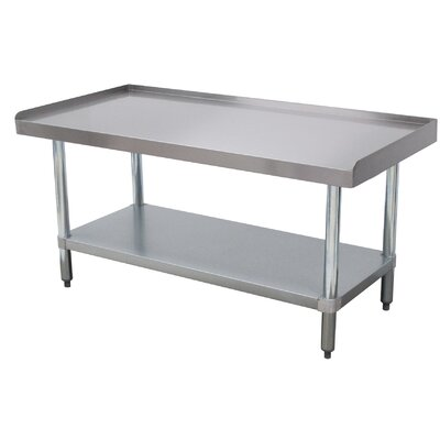 Economy Equipment Prep Table Size: 25 H x 30 W x 60.25 D