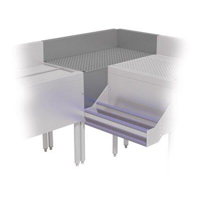 Prestige Series 90� Free Standing Corner Drainboard Size: 36 H x 30 L x 20 W