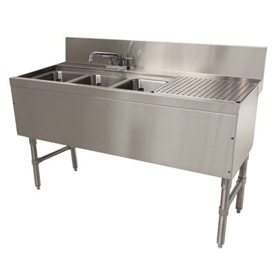 Prestige Series Free Standing Service Utility Sink with Faucet Size: 36 H x 60 L x 25 W
