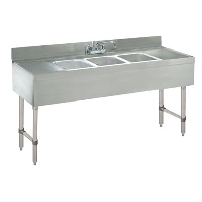 Free Standing Service Utility Sink with Faucet Size: 33 H x 72 L x 21 W