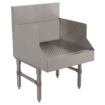Prestige Series Recessed Free Standing Underbar drainboard Size: 36 H x 12 L x 20 W