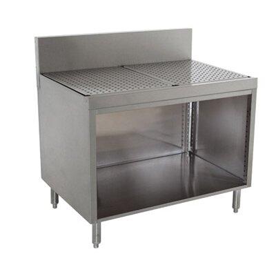 Prestige Series Free Standing Drainboard Open Base Cabinet Size: 36 H x 42 L x 30 W