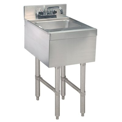 Free Standing Handwash Utility Sink with Faucet Size: 33 H x 15 L x 21 W
