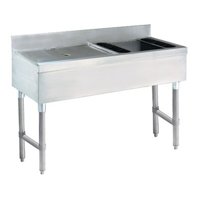 48 x 21 Free Standing Ice Bin and Drainboard Combo Unit