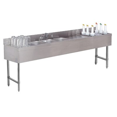 Free Standing Service Utility Sink with Faucet Size: 33 H x 84 L x 18 W