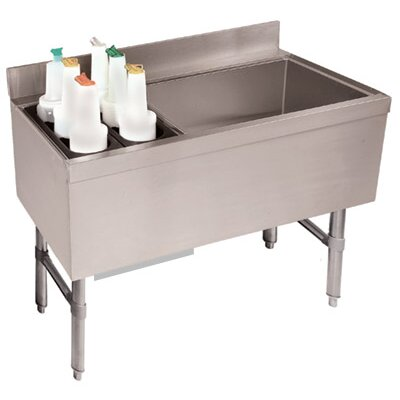 Free Standing Service Utility Sink Size: 33 H x 48 L x 21 W