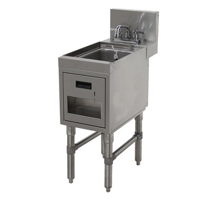 Prestige Series Free Standing Handwash Utility Sink with Faucet Size: 36 H x 18 L x 25 W