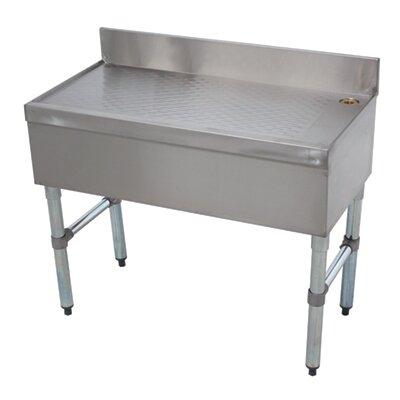 Free Standing Underbar Drainboard Size: 33 H x 30 L x 18 W