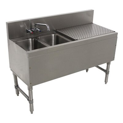 Prestige Series Free Standing Service Utility Sink with Faucet Size: 36 H x 48 L x 20 W
