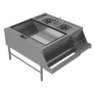 Prestige Series Pass Thru Free Standing Service Utility Sink Width: 52