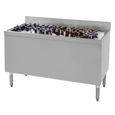 Prestige Series Stainless Steel Free Standing Beer Box Size: 36 H x 60 L x 25 W