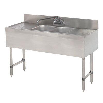48 x 18 Free Standing Service Utility Sink with Faucet