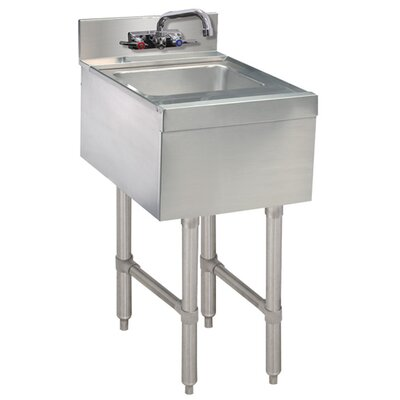 Free Standing Handwash Utility Sink with Faucet Size: 33 H x 15 L x 18 W