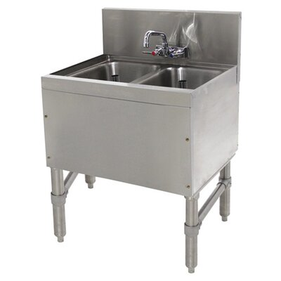Prestige Series 24 x 20 Free Standing Service Utility Sink with Faucet