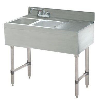 Free Standing Service Utility Sink with Faucet Size: 33 H x 48 L x 21 W