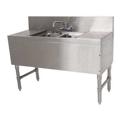 Prestige Series 48 x 20 Free Standing Service Utility Sink with Faucet