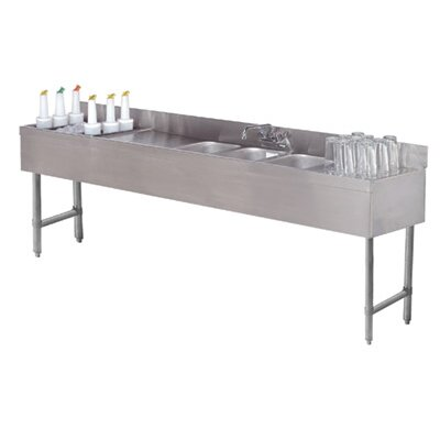 Free Standing Service Utility Sink with Faucet Size: 33 H x 84 L x 21 W