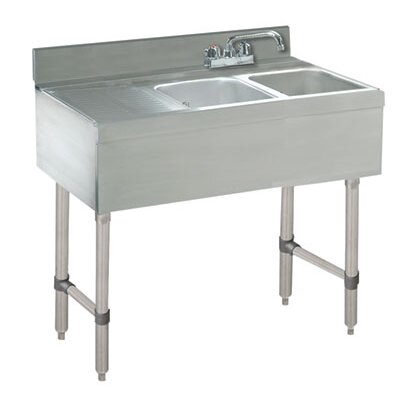 Free Standing Service Utility Sink with Faucet Size: 33 H x 36 L x 21 W