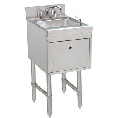 Free Standing Handwash Utility Sink Size: 32.88 H x 15 L x 21 W